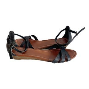 American Eagle Outfiters Black Law Wedge Sandals 9